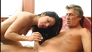 Curvaceous girlie Nina gives a sloppy blowjob previous to fucked