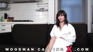 Delectable brown-haired maiden lets some enchanting moans out as she's getting fucked