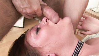 Marvelous young maid Amy lets some pleasing moans out as she's getting fucked