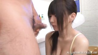 Slutty cutie Konoha is getting throatfucked before having sex and enjoying every second of it