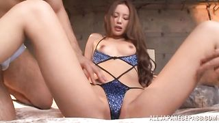 Sausage loving stupefying lady Emiri Okazaki is sucking like a pro only if she likes a dude a lot