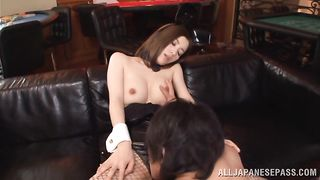 Raunchy Yuria Ashina eagerly spreads for a big lovestick