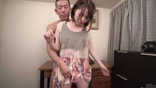 Curvaceous woman Narumi Ayase gives head to the attractive boy-friend