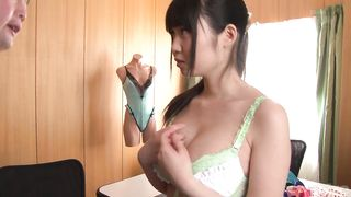 Dazzling wench Aika Yumeno with big tits is spreading her legs wide open for a playmate she likes a lot