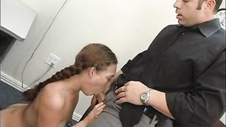 Mischievous honey Ashley Gracie and big dicked playmate have wild sex