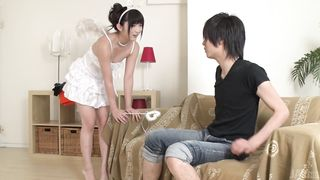 Magnificent slut Maria Kotobuki engages in a kinky love tunnel play
