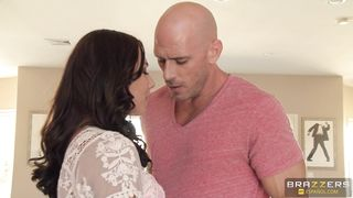 Charming brunette teen Aidra Fox skillfully rides a throbbing lever