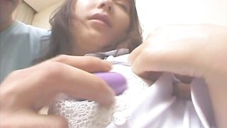 Startling Haruka Hoshikawa knows how to suck fucker's tool the way he likes it