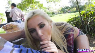 Dazzling blonde minx Jade Amber decided to be like a pornstar because she likes sex