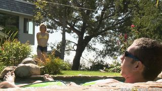 Extraordinary young blonde girlie Lily Labeau can't stop riding the big lovestick